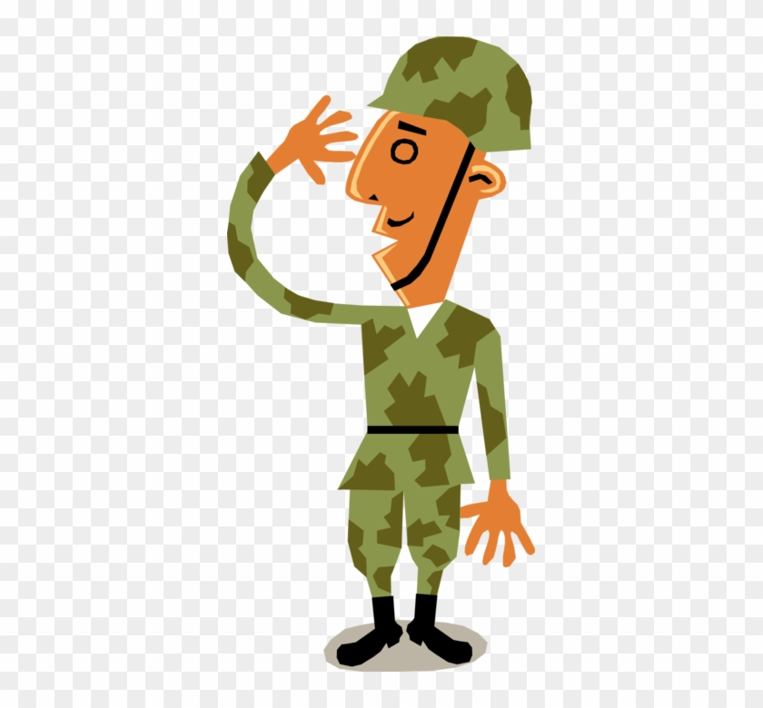 Vector Illustration Of Military Armed Forces Army Troop