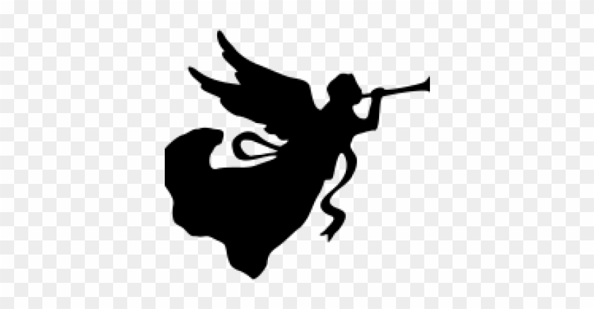 Angel With Trumpet - Angel With Trumpet Silhouette #924769