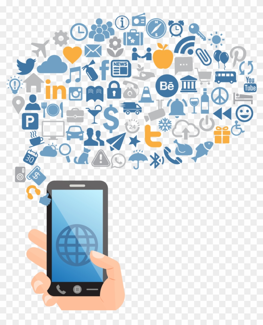 Social Media Marketing Social Network Social Influence - Social Network On Mobile Png #925499