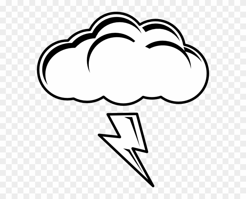 Thunder And Lightning Clipart - Sun And Cloud Coloring Pages - Free ...