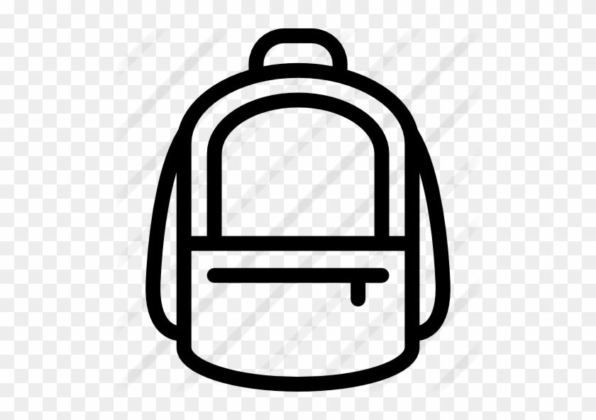 Big Backpack - School Bag Vector Png Icon #926369