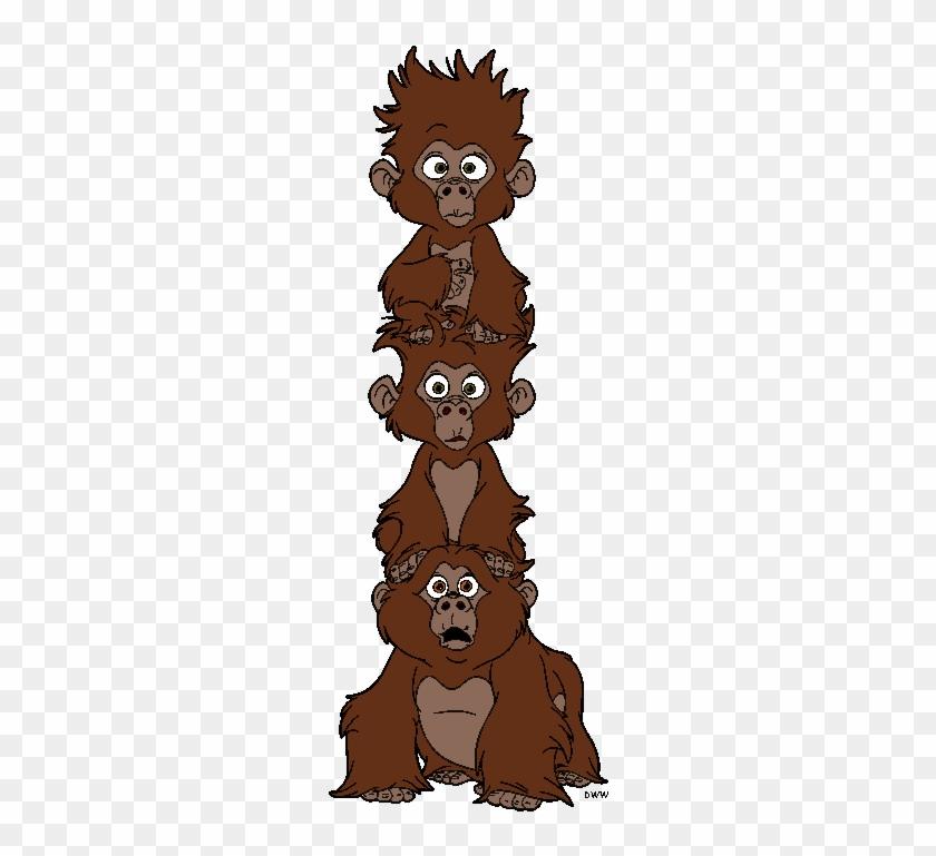 Baboon Clipart Tarzan Baby Gorillas From Tarzan Free Transparent