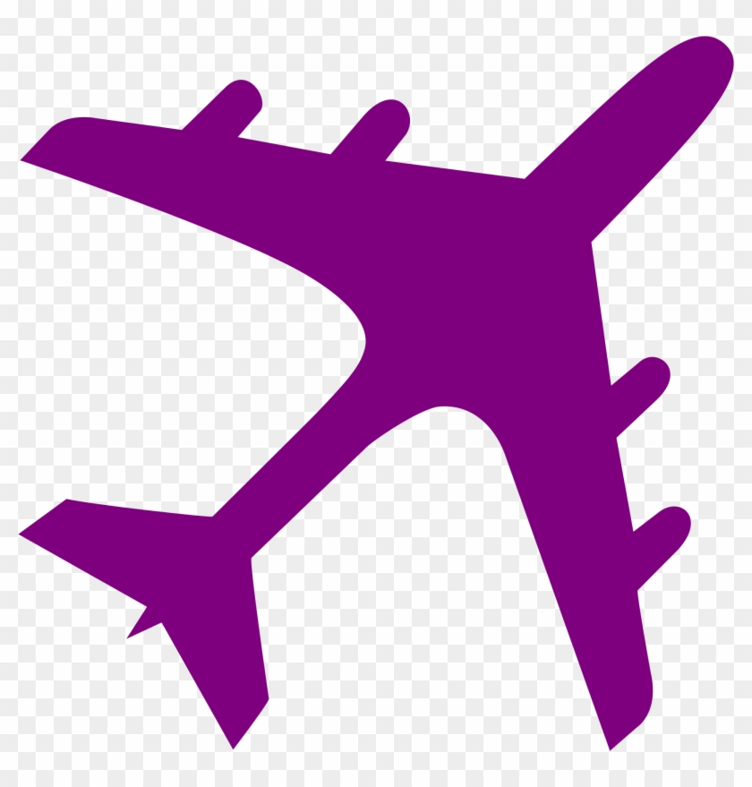 Fileairplane Silhouette Purple - Airplane Icon #927619