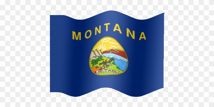 very big animated flag of montana 6 us state flags that have