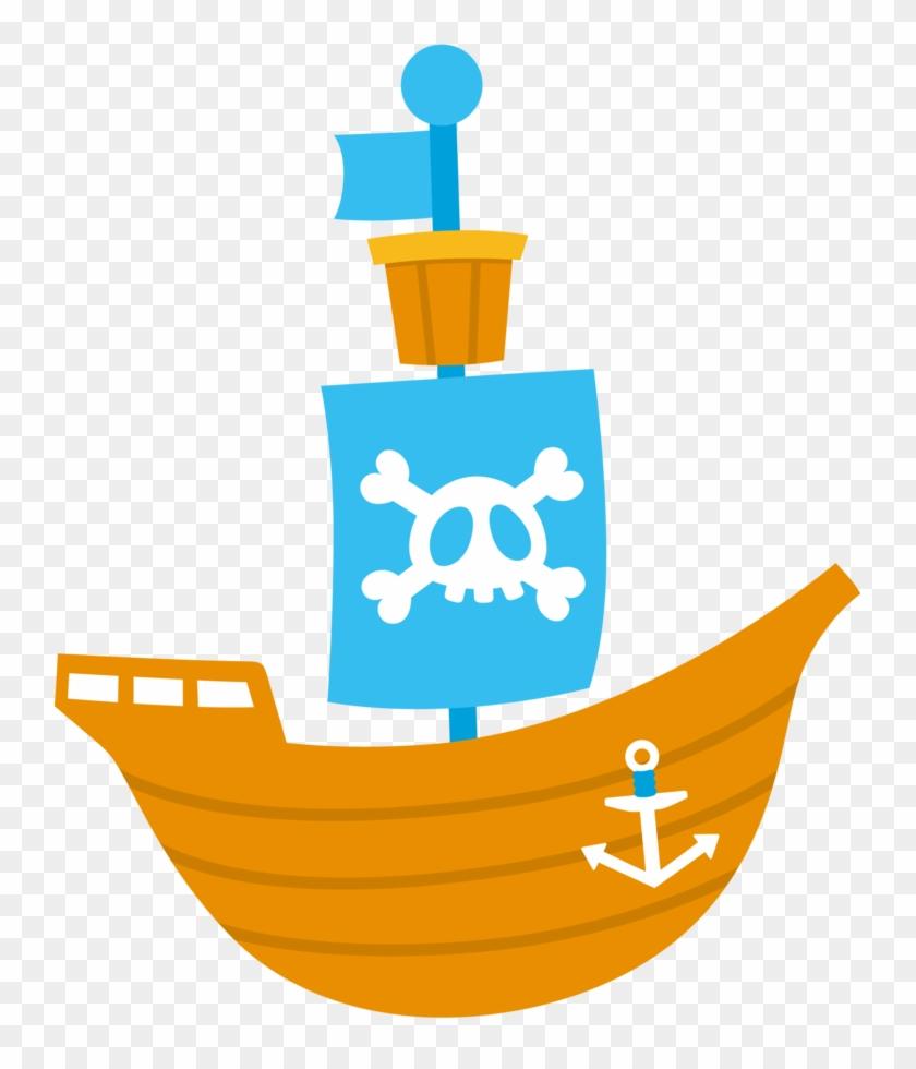 Pirate Babies Clip Art - Cute Pirate Ship Scrap Png #927786