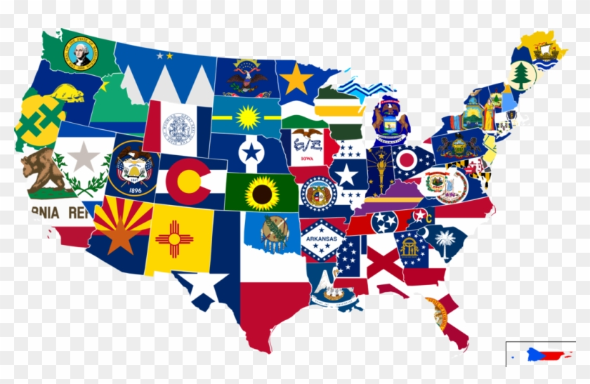 Us Map With State Flags Pin By Brendan On Alternate New Mexico 50 - Us-map-50-states