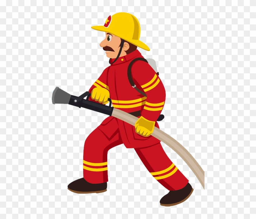 Fire Safety & Security - Fireman Clipart #927989