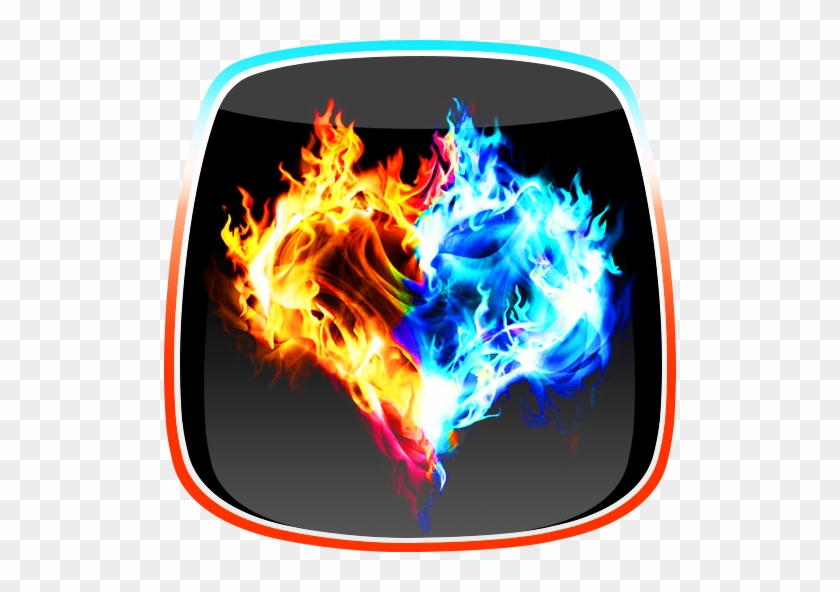 Hot And Cold Or Fire And Ice Icons Stock Vector - Fire And Ice Live #928055