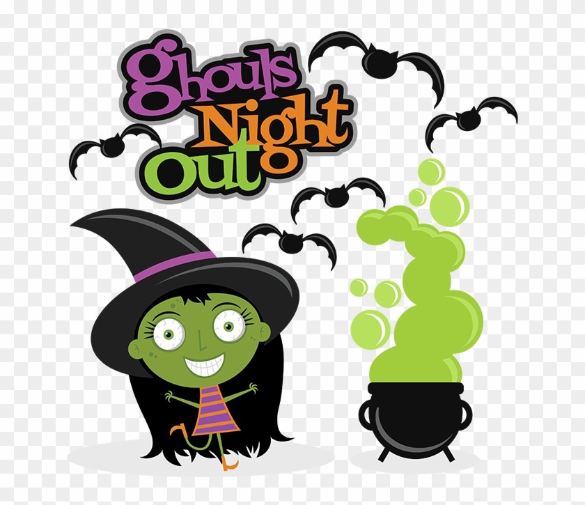 Ghouls Night Out Svg Scrapbook Cuts Witch Cut File - Halloween Costume Shirt Ghouls Night Out Cute Halloween #928238