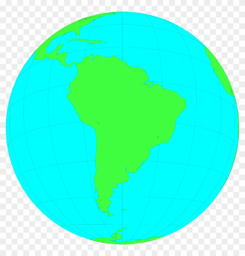 North And South America Map Clipart - South America In The Globe ...
