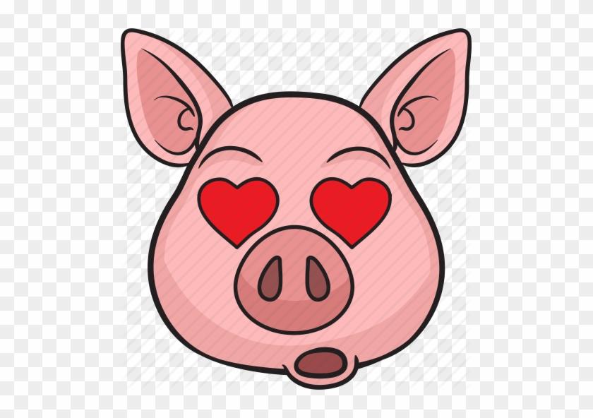 Animal, Cartoon, Cute, Emoji, Pig - Pig Face Cartoon #929212