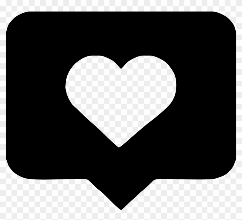 Computer Icons Heart Speech Balloon Instagram - Instagram Like Png White #929585