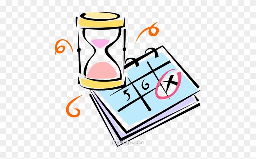 Calendario Vectorizado.Hourglass And Calendar Royalty Free Vector Clip Art
