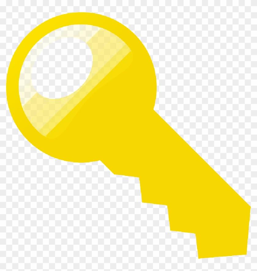 Golden Key Png Clip Art - Key #930010