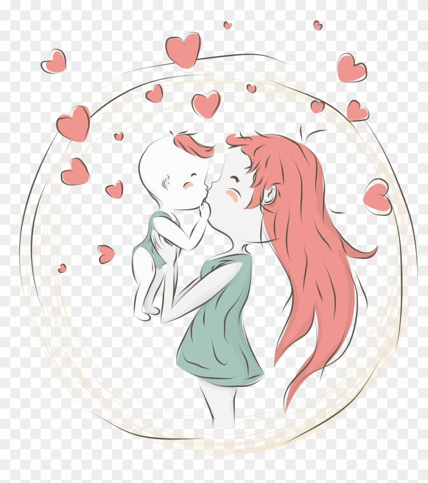 Mother Cartoon Child Mommy And Baby Girl Png Free Transparent Png Clipart Images Download