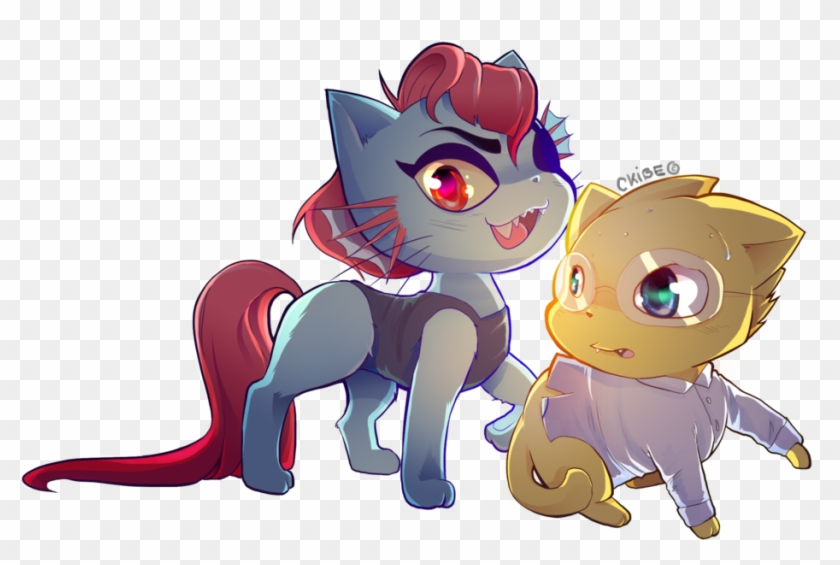 Undyne And Alphys Cat Version By Ckibe - Undertale Version