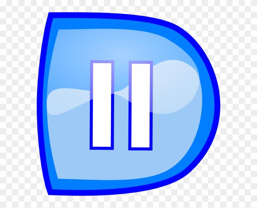 Blue Pause Button Svg Clip Arts 600 X 601 Px - Panneau Interdit De Fumer #931698