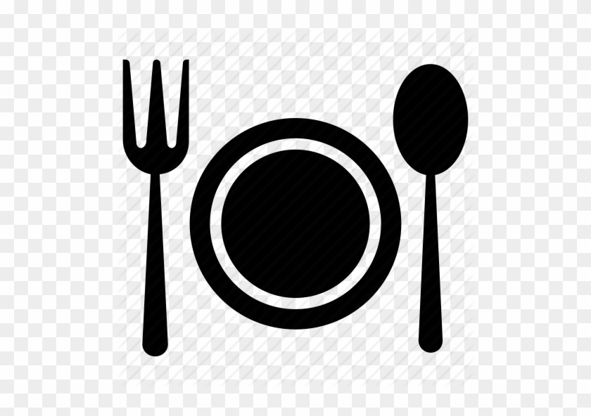 Pin Plate And Fork Clipart - Plate With Spoon And Fork Png #932306