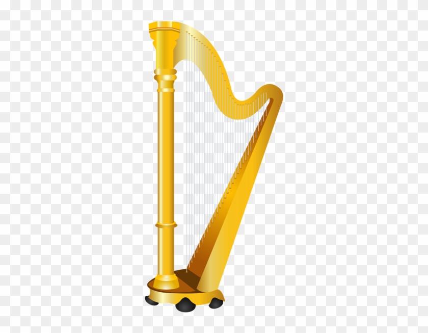 Golden Harp Png Clipart Picture - Golden Harp Clipart #932648