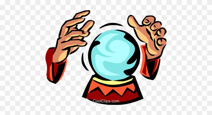 Crystal Ball Royalty Free Vector Clip Art Illustration - Crystal Ball Clip Art #932767