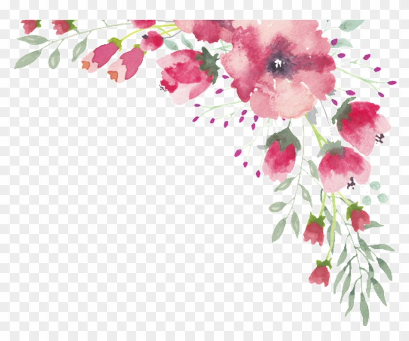 great png watercolor flower lace border free download water color