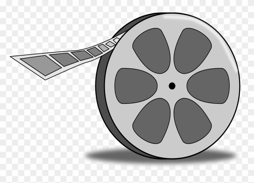 Free Cartoon Film Reel Clip Art - Movie Reel Png Cartoon #933427