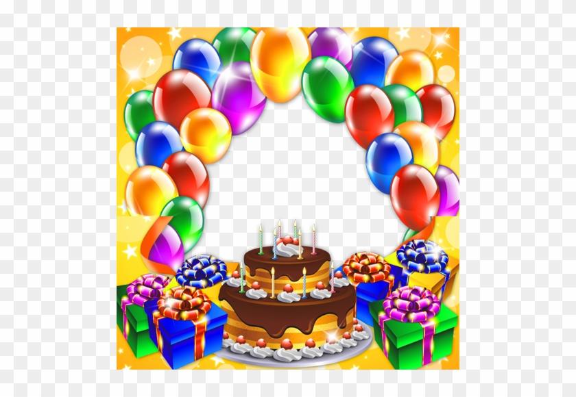 Happy Birthday Images With Photo Frame Festive Frame Birthday Cake