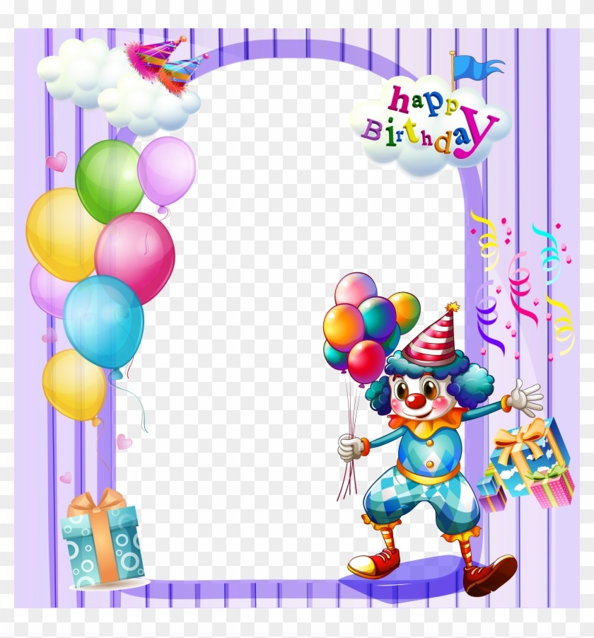 happy birthday large transparent frame clip art app download