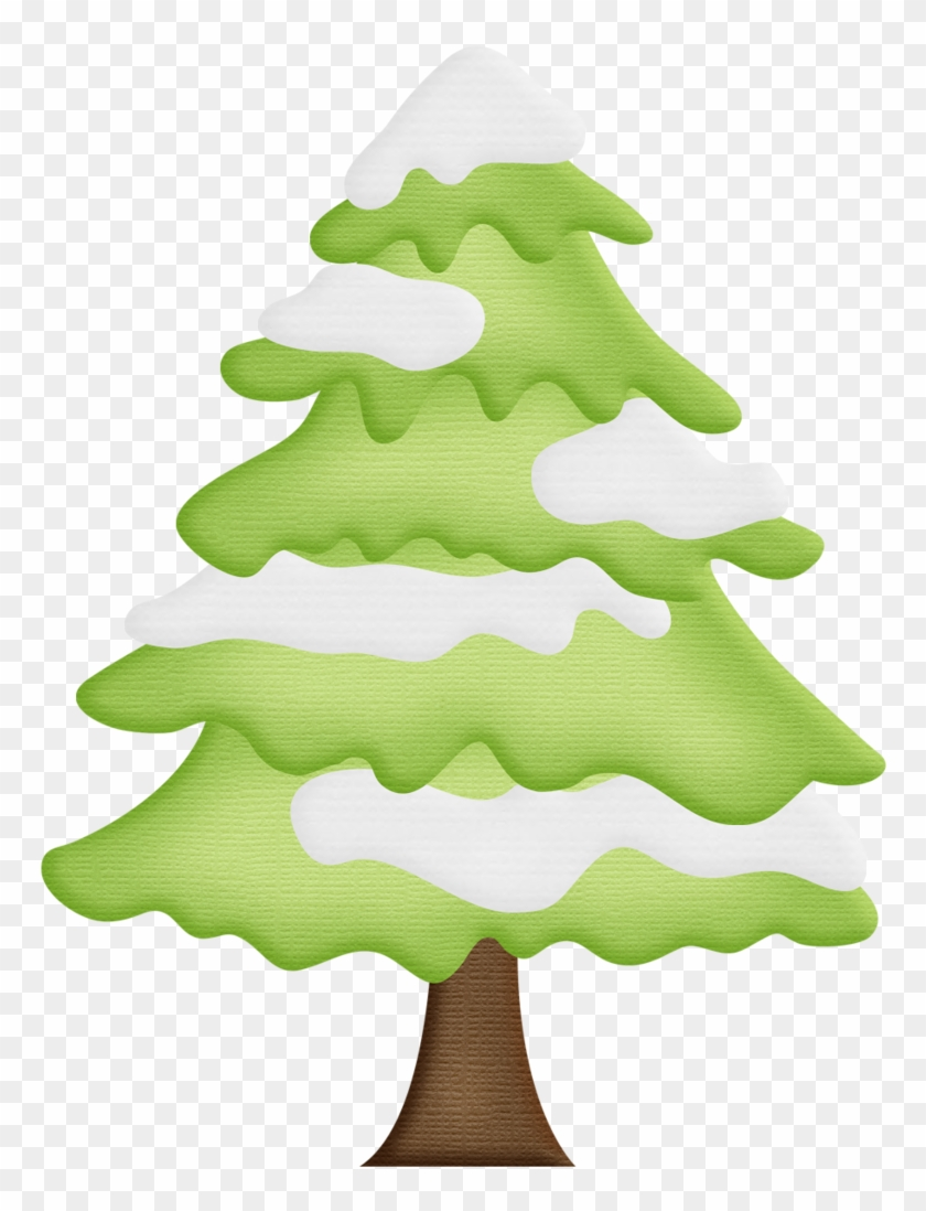 Winter Clipart Christmas Tree - Pine Tree With Snow Clipart #933887