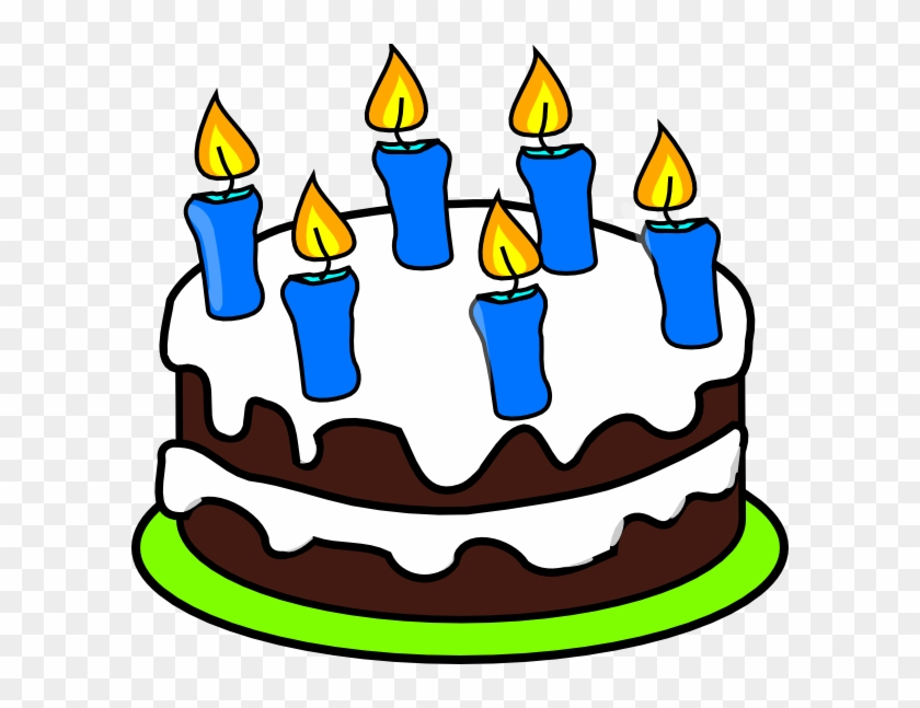 Fabulous Cake 6 Candles Clip Art At Clker Com Vector Clip Art Cake With 6 Funny Birthday Cards Online Necthendildamsfinfo