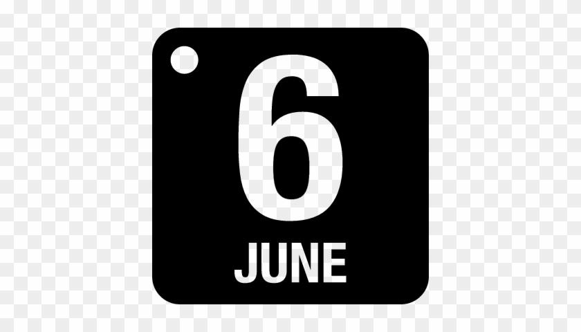 Calendario Vectorizado.Daily Calendar Page Of June 6 Vector 6 De Junio Calendario