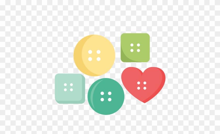 Button Set Svg Cutting Files For Cricut Silhouette - Cute As A Button Clipart #935388