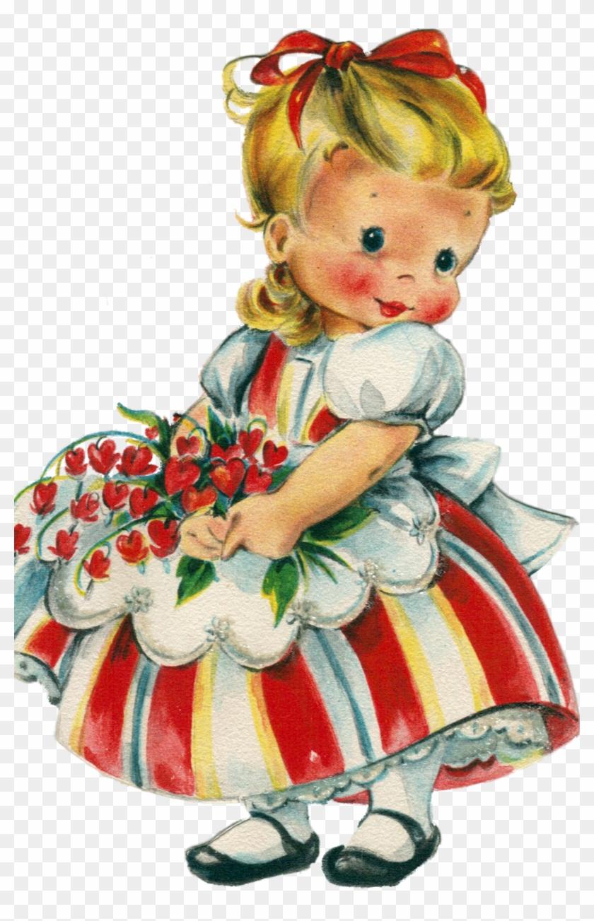 Vintage Valentines, Valentine Ideas, Children Pictures, - Vintage Valentine Card For My Daughter #935407