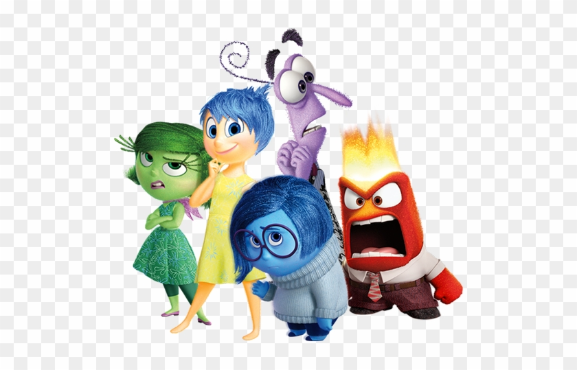 Disgust, Joy, Fear, Sadness & Anger - Inside Out Movie