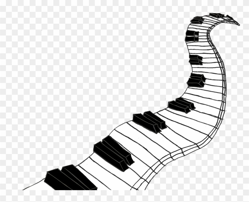 Piano Drawing – How to draw piano keys.