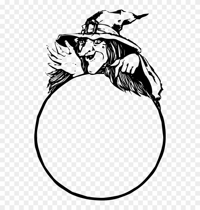 Medium Image - Witch Crystal Ball Clipart #935846