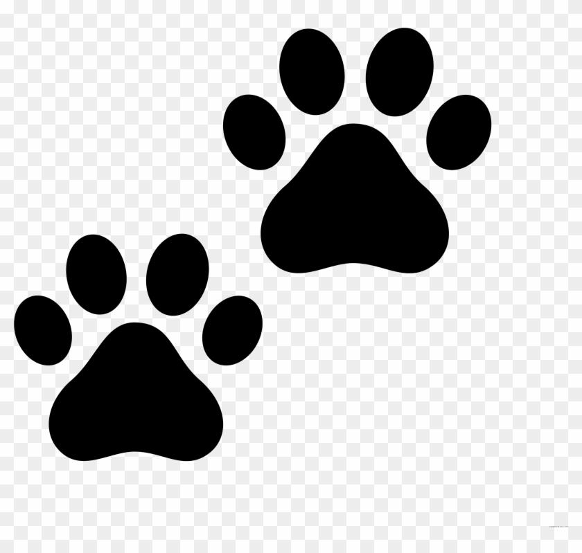 Cat Paw Print Animal Free Black White Clipart Images - Cat Paw Print Clip Art #935906