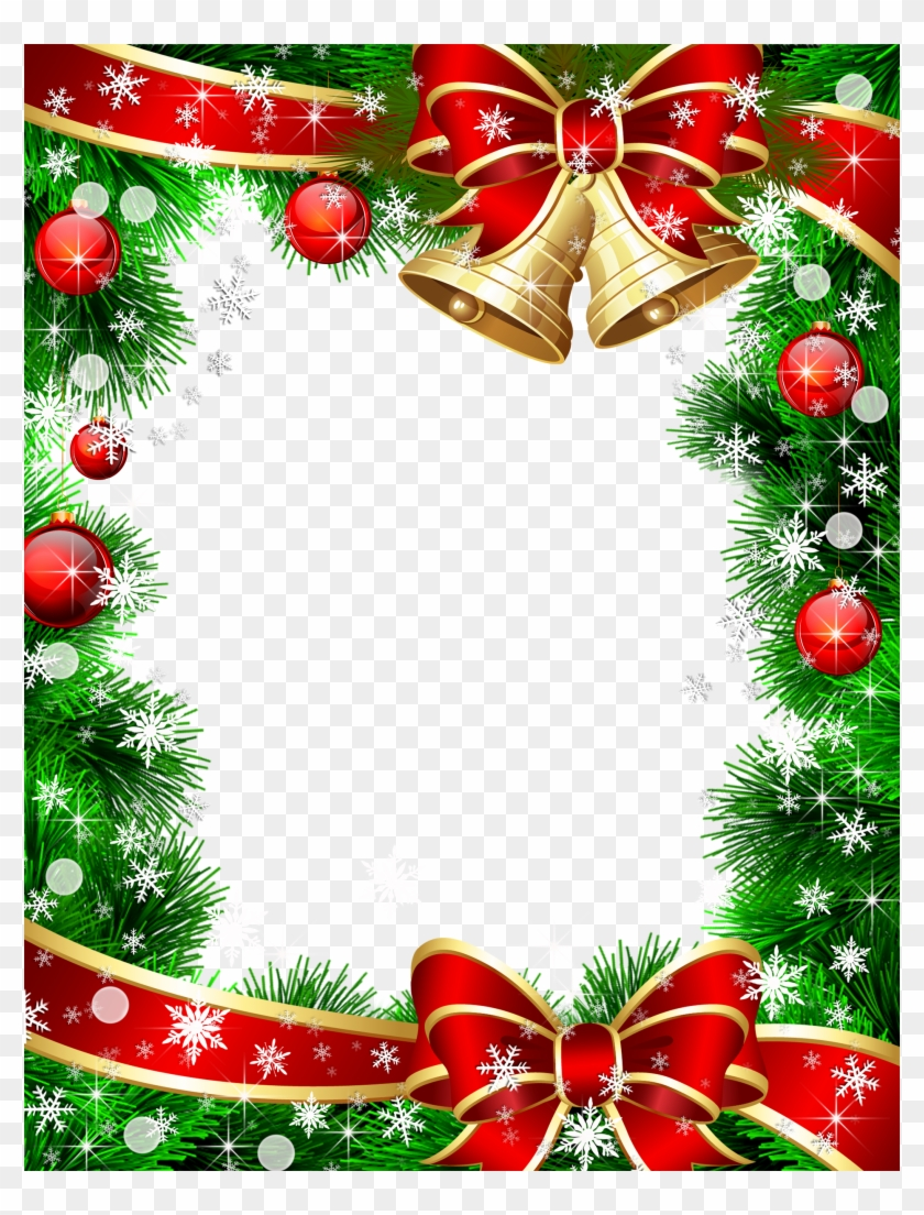 Cute Christmas Png Photo Frame With Christmas Ornaments - Christmas ...