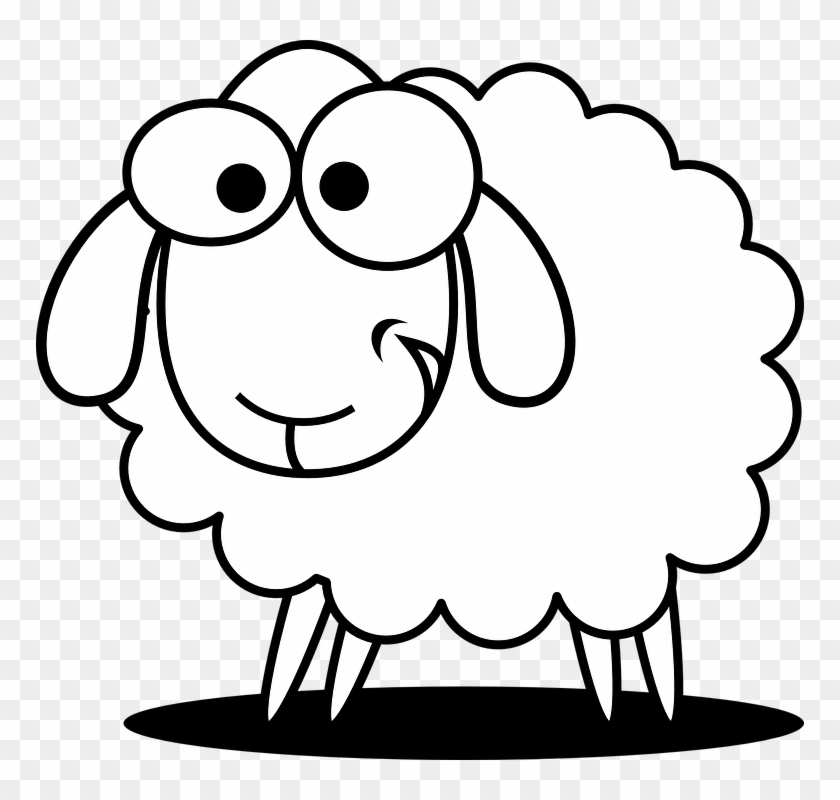 Collection Of Cartoon Animals To Draw Sheep Black And White Free Transparent Png Clipart Images Download
