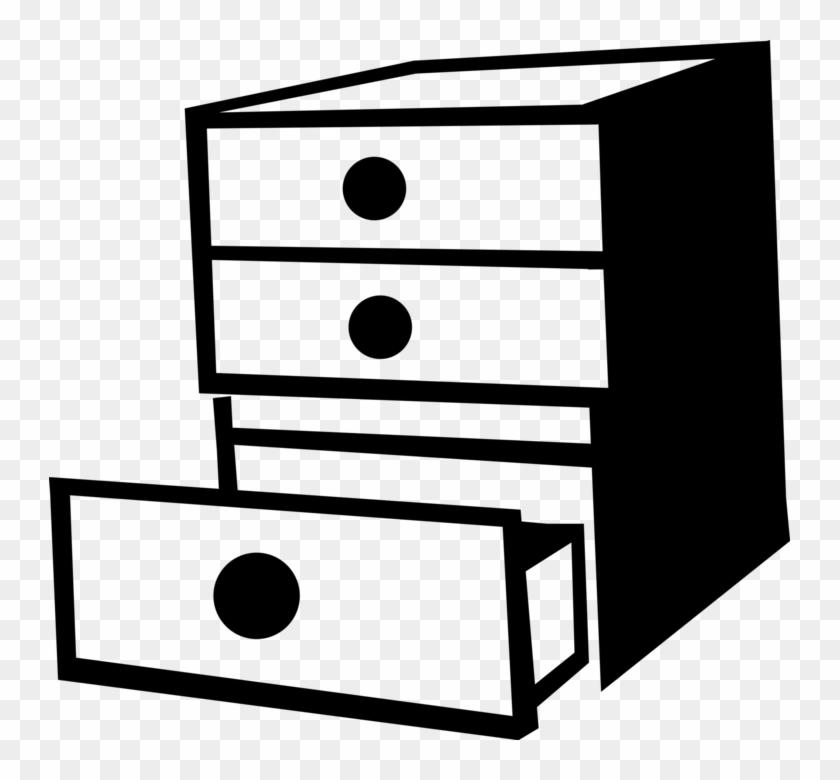 Vector Illustration Of Bedroom Furniture Dresser Or Clipart Of