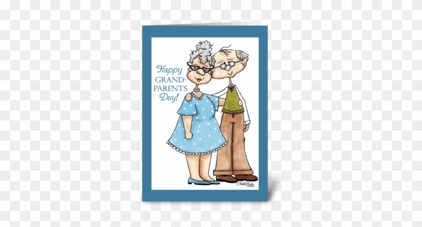 Grandparents Day-cute Elderly Couple Greeting Card - Happy Anniversary 58 Years #937762