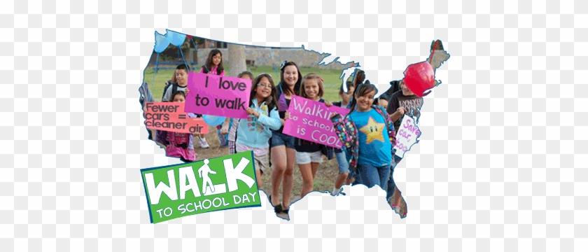 October Is International Walk To School Month, And - National Walk To School Day #937821