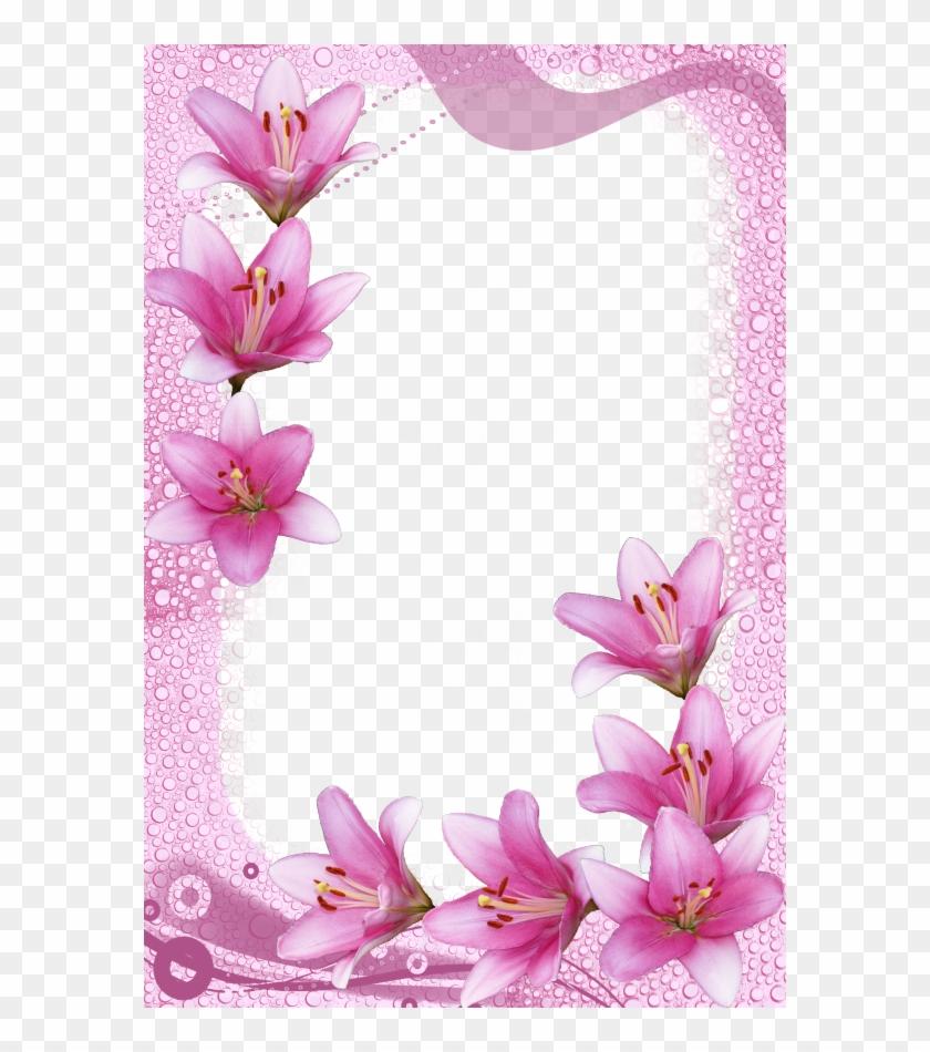 Flower Backgrounds, Frames, Wallpaper, Card Making, - Pink Flower ...