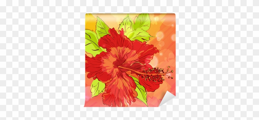 Background With Hand Drawn Flowers, Eps10 Wall Mural - Flower #938545