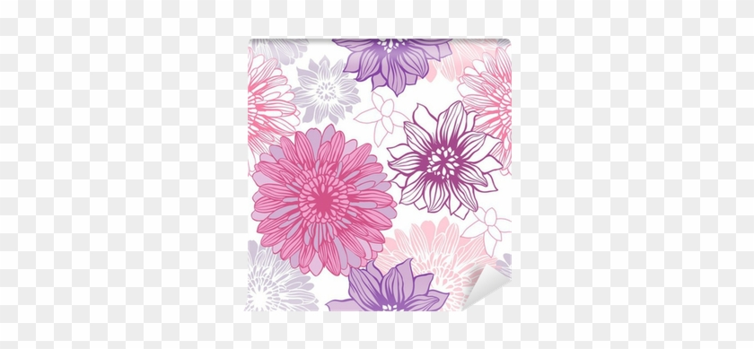 Vector Background With Hand Drawn Flowers - Bring Decorations To Life: A Coloring Book #938560