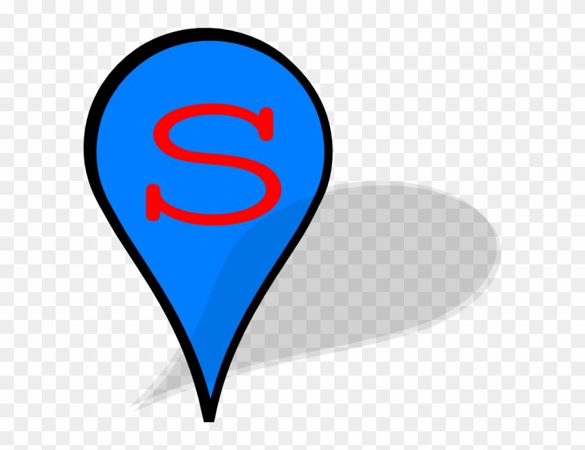 Pin Clip Art At Clkercom Vector Online Royalty Free - Blue Marker Google Maps #938874