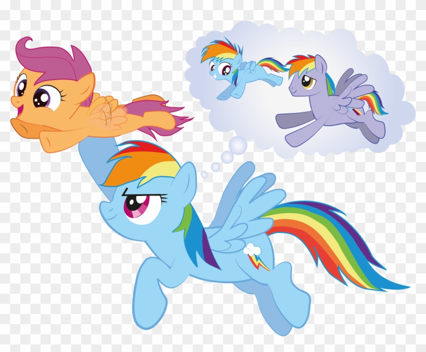 D Block Daria Viewing Pro Brohoofs Mlp Forums Scootaloo And Rainbow Dash Flying Free Transparent Png Clipart Images Download N l ' ' ,. d block daria viewing pro brohoofs mlp