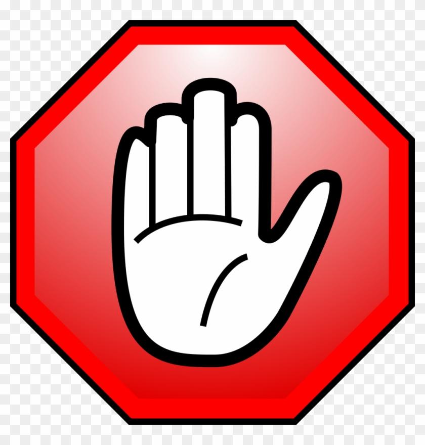 Adblocker - Stop Hand Yellow Png - Free Transparent PNG