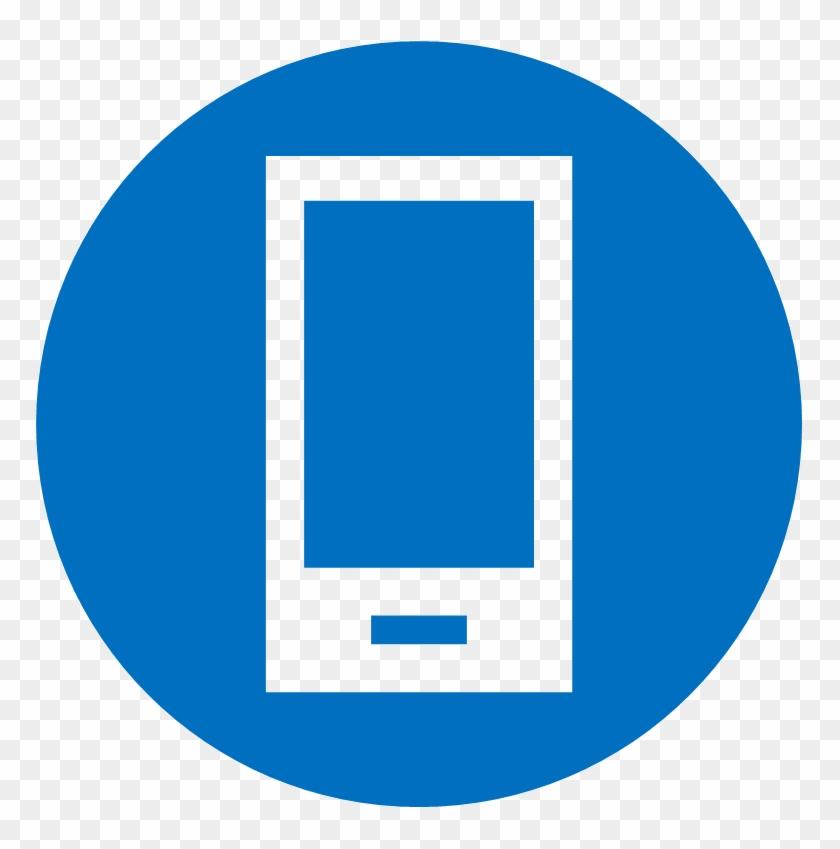 Mobile Expense Icon - Mobile Phone Icon Blue #939710