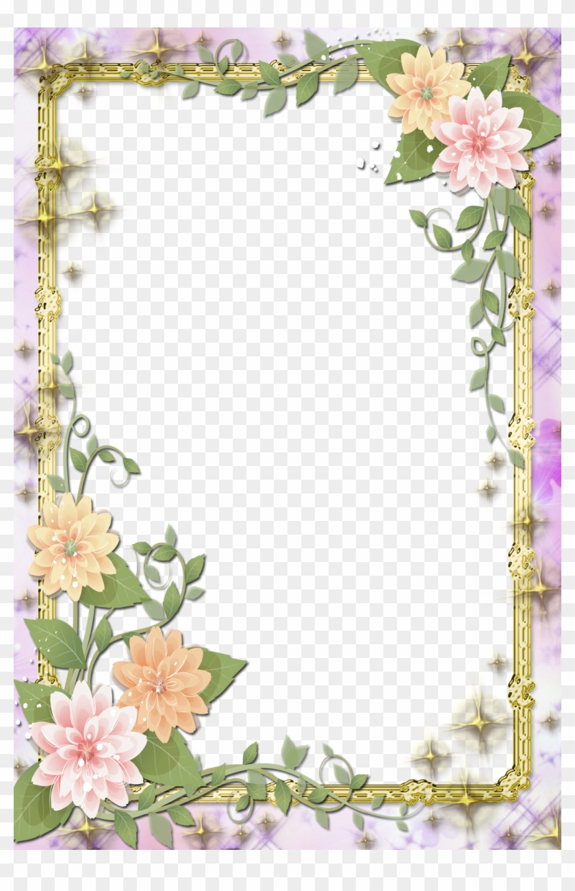 Transparent Flowers Frame Flowers Borders And Design
